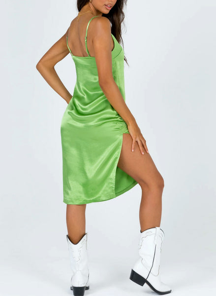 Wholesale Twiin Alert Slip Dress // Green N1463 - WinkGalB2B