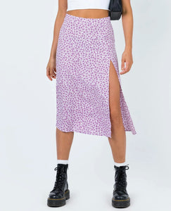 Wholesale Motel Saika Skirt Floral Field Lilac //  Purple N1470 - WinkGalB2B