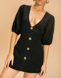 Wholesale Grecia Playsuit Black N1489 - WinkGalB2B