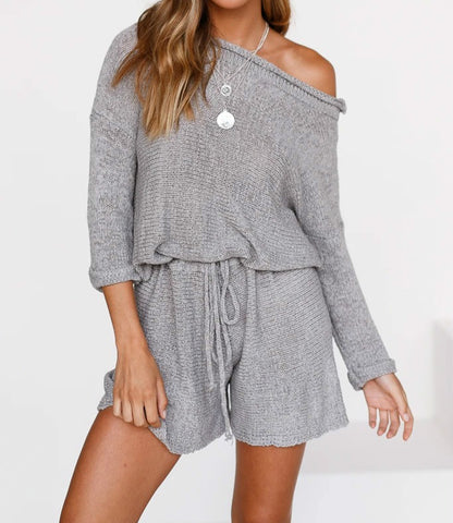 Wholesale LIVE YOUR LIFE ROMPER GREY N1575 - WinkGalB2B