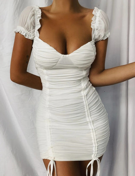 Wholesale TORONTO DRESS WHITE N1579 - WinkGalB2B