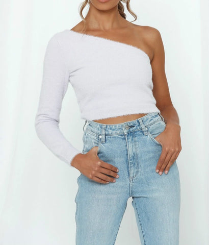 Wholesale Word Of The Day Knit Tops White N1600 - WinkGalB2B