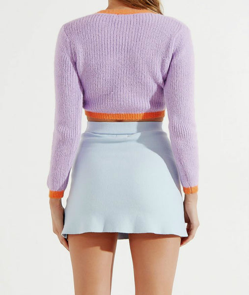 Wholesale Paris Collides Knit Jumper Lilac N1638 - WinkGalB2B