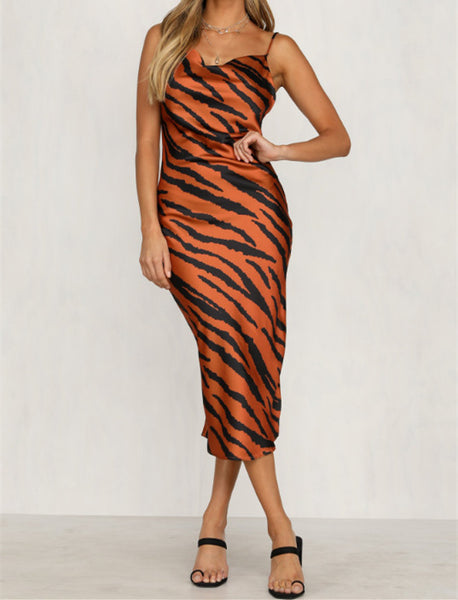 TIGER PRINT DRESS N206 - WinkGalB2B