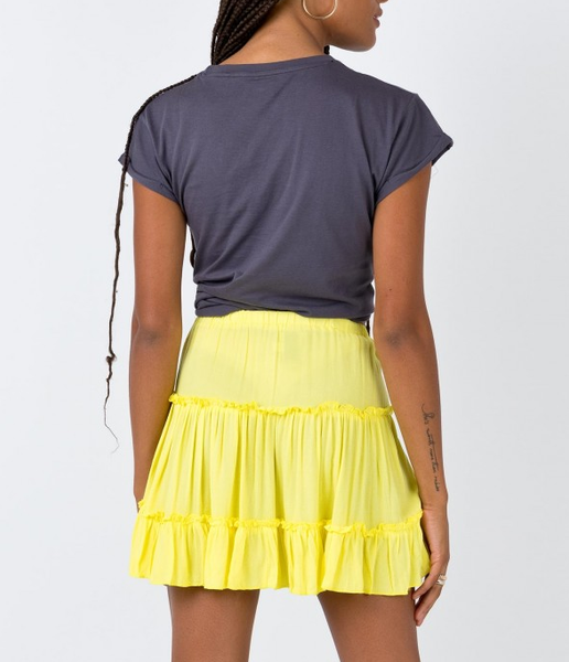 Wholesale MERAKI MINI SKIRT NEON YELLOW N734 - WinkGalB2B