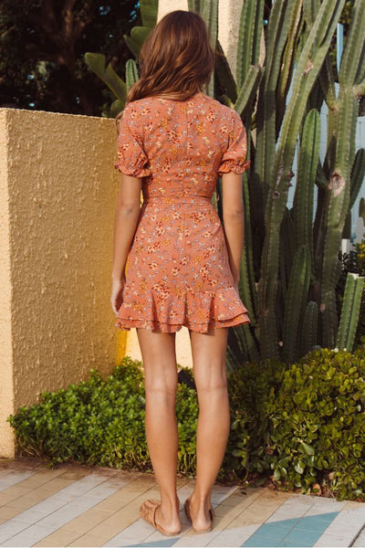 Wholesale Feminist Dress Orange N1130 - WinkGalB2B