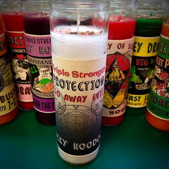 Prayer Candle - Protection Go Away Evil