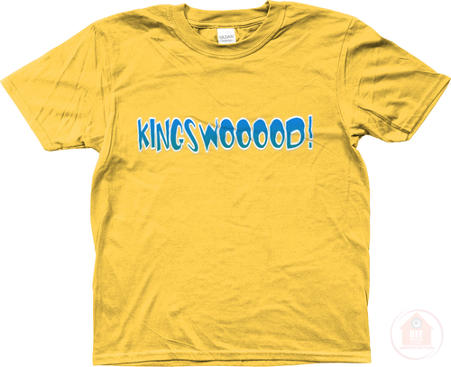 KINGSWOOOOD! Yellow x Blue Kid's T-Shirt