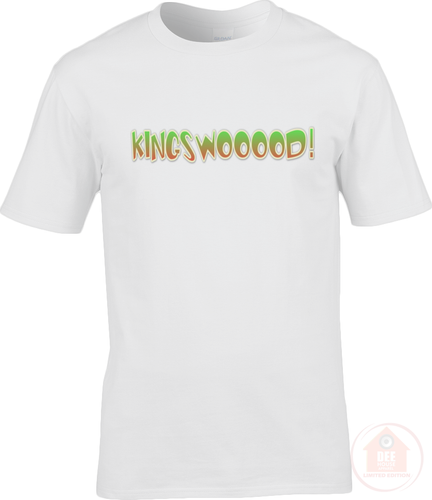 KINGSWOOOOD! White x Green Men's T-Shirt