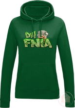 "Load image into Gallery viewer, DW FNIA ""Stacks"" Women's Fitted Hoodie"