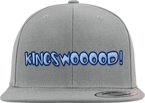 KINGSWOOOOD! Grey / Blue Colorway Snapback