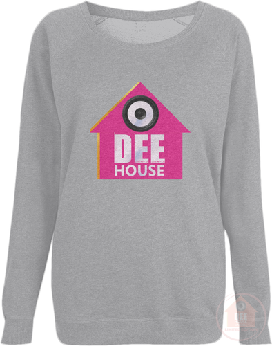 Dee House Light Grey x Pink Women's Sweatshirt