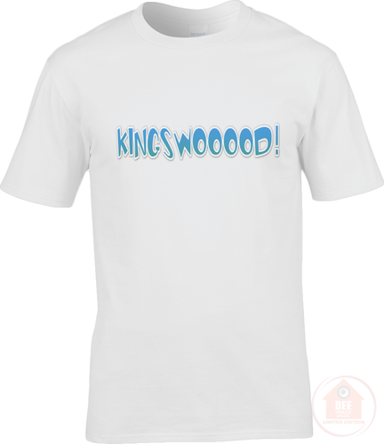 KINGSWOOOOD! White x Blue Men's T-Shirt
