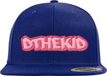 "Load image into Gallery viewer, DW FNIA ""DtheKid"" Pink Logo Snapback"