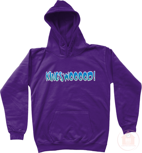 KINGSWOOOOD! Purple x Blue Kid's Hoodie