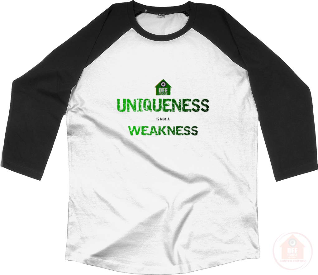 Uniqueness White x Green Men's Baseball Top