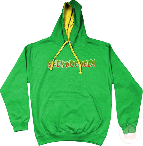 KINGSWOOOOD! Kelly x Yellow x Green Men's Hoodie