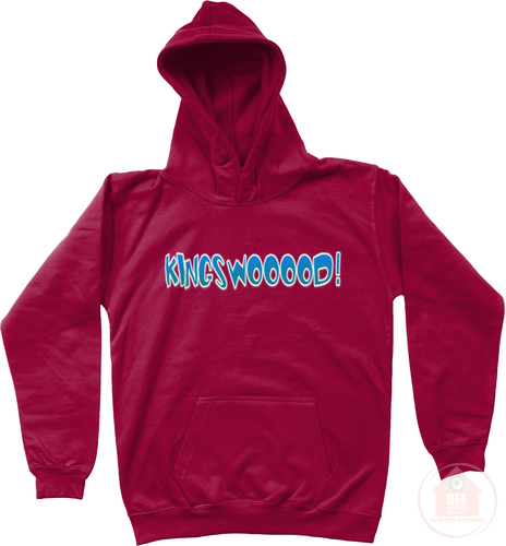 KINGSWOOOOD! Chilli Red x Blue Kid's Hoodie