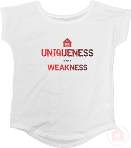Uniqueness White x Red Women's Loose Fit T-Shirt