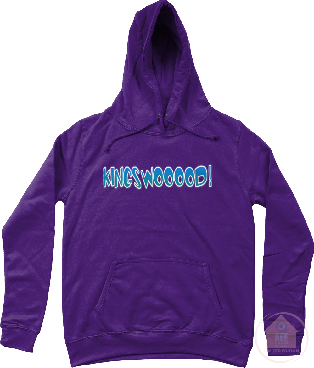 KINGSWOOOOD! Purple x Blue Women's Hoodie