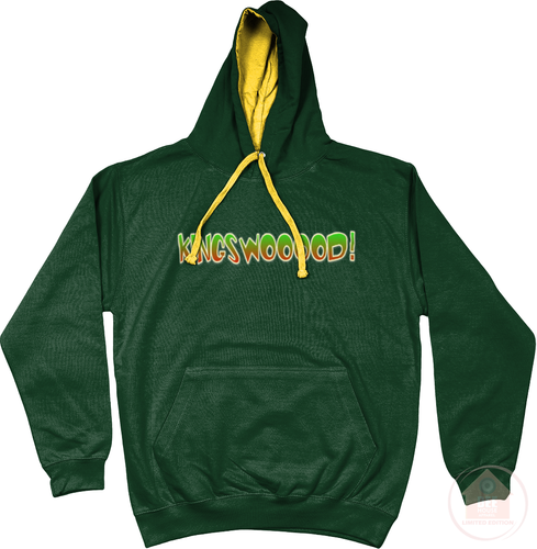 KINGSWOOOOD! Forest x Gold x Green Men's Hoodie