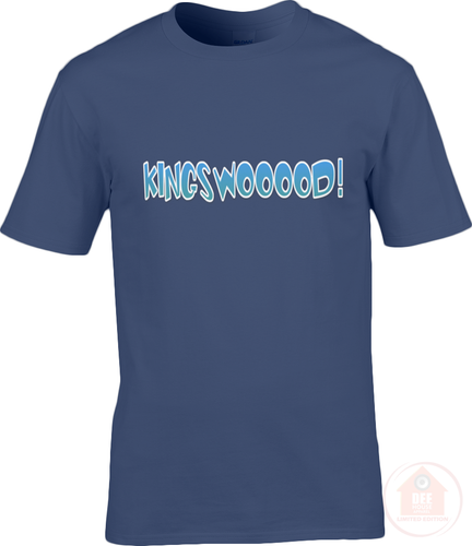 KINGSWOOOOD! Navy x Blue Men's T-Shirt