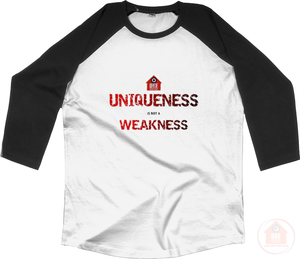 Uniqueness White x Red Men's Baseball Top