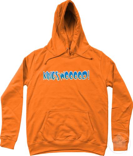 KINGSWOOOOD! Orange x Blue Women's Hoodie