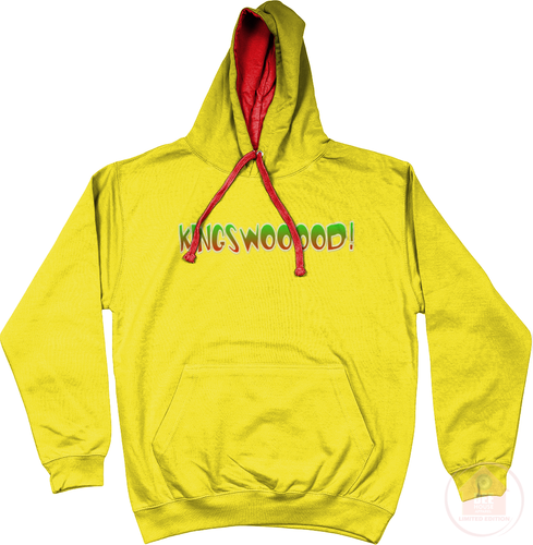 KINGSWOOOOD! Yellow x Red x Green Men's Hoodie