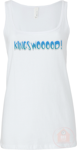 KINGSWOOOOD! White x Blue Women's Vest top