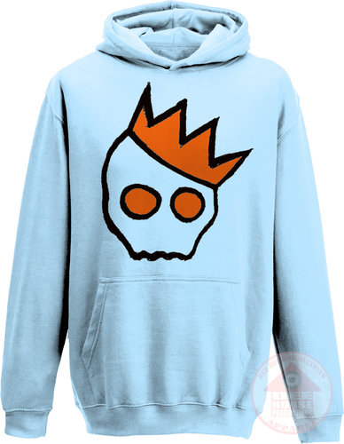 NationofCharles Black x Orange Logo Kid's Hoodie-Dee House Productions