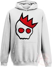 Load image into Gallery viewer, NationofCharles Black x Red Logo Hoodie-Dee House Productions
