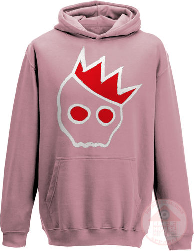NationofCharles White x Red Logo Hoodie-Dee House Productions