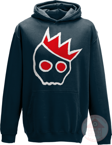 NationofCharles White x Red Logo Kid's Hoodie-Dee House Productions