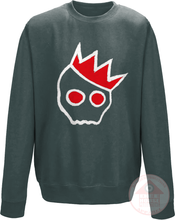 Load image into Gallery viewer, NationofCharles White x Red Logo Sweatshirt-Dee House Productions