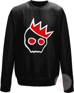 NationofCharles White x Red Logo Sweatshirt-Dee House Productions