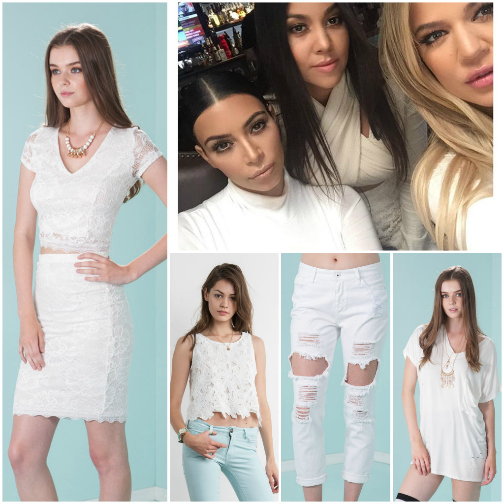 83d03d300a43 Kardashian Summer Style  All White Outfit – The Snooki Shop