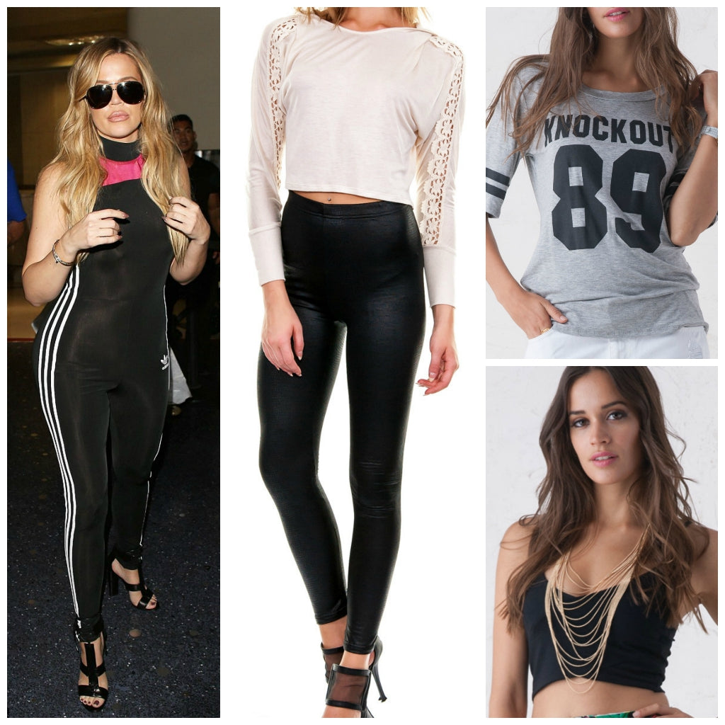 900415369ad7 Celebrity Look For Less  Khloe Kardashian s Athletic Jumpsuit