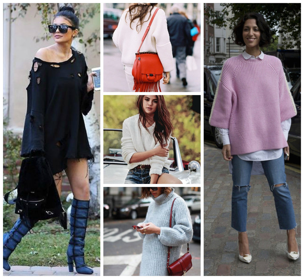 Selena Gomez and Kylie Jenner Rock Oversized Knit Sweaters
