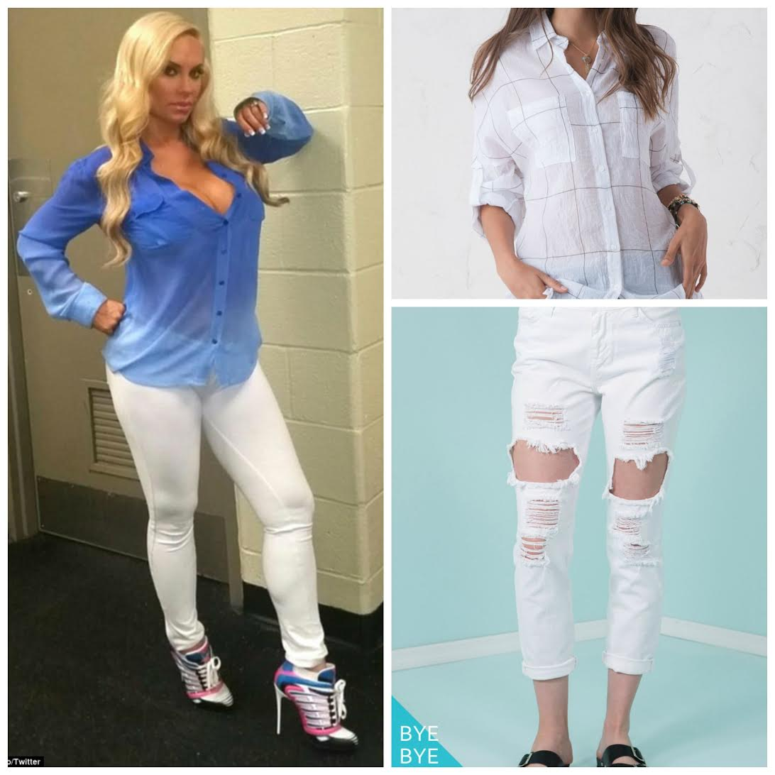 Coco Austin In White Pants 7 Months Pregnant