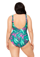 Bahama Mama Lace Up One Piece Bathing Suit