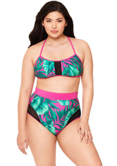 Bahama Mama Mesh Insert High-Waisted Bikini Bottom