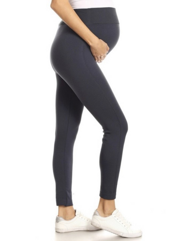 Charcoal Basic Maternity Leggings