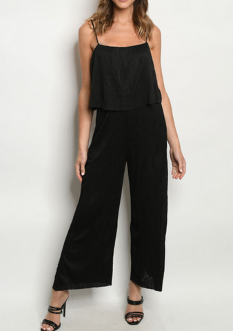 Black Layered Jumpsuit