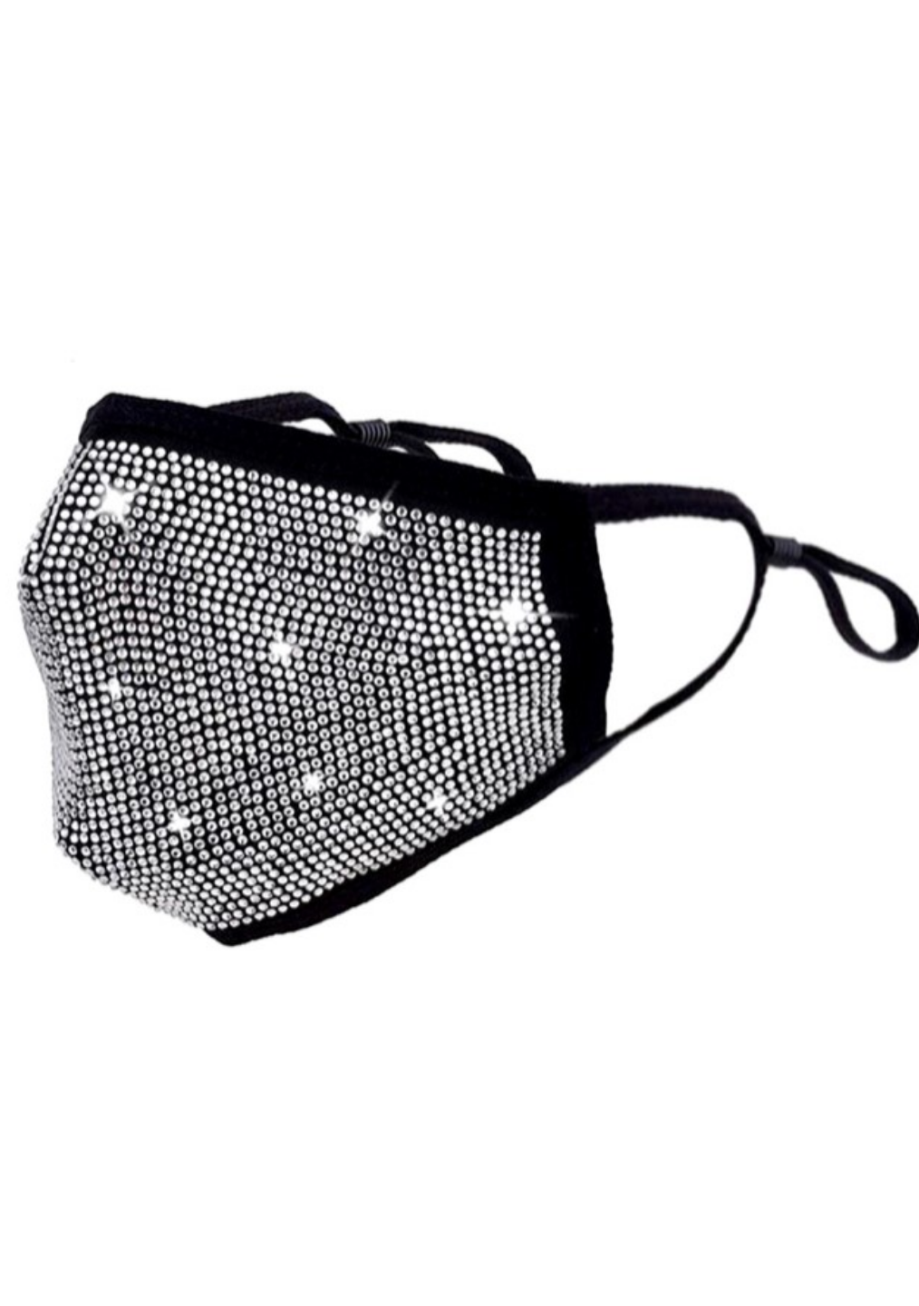 Black Rhinestone Mask