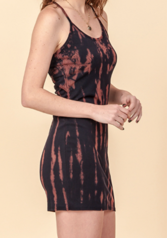 Black Tie Dye Tank Dress