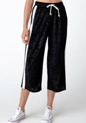Black Velvet Capri Lounge Pants
