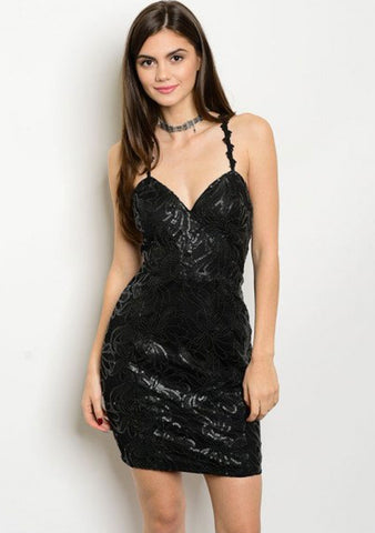 BLACK SWAN SEQUINED DRESS