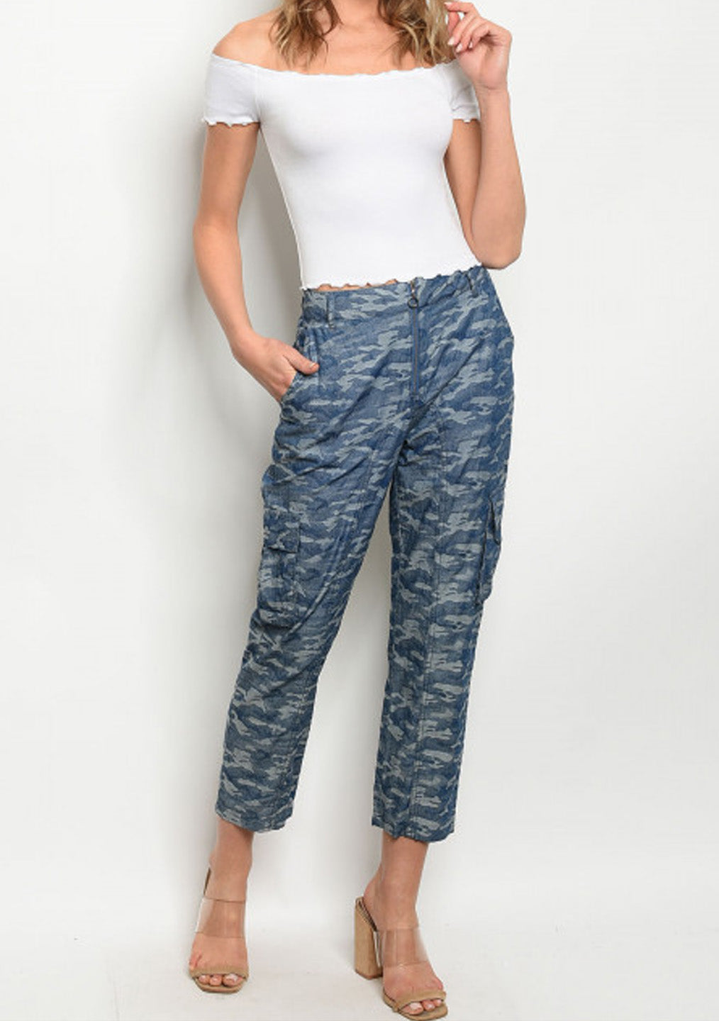 Blue Camouflage Pants