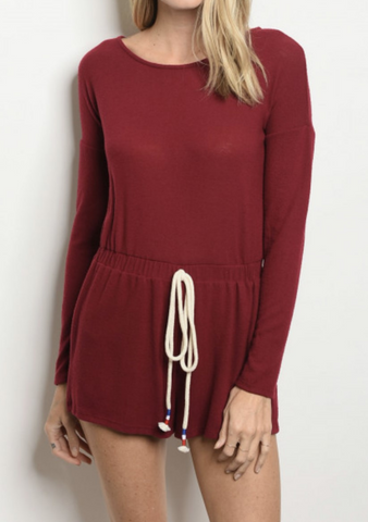 Burgundy Lounge Romper